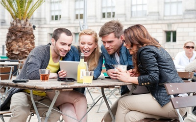 young people socialising